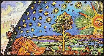 Astrologe am Rand der Erdscheibe, Künstler Flammarion