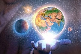 Sterne in der Hand, erst nach langem Lernen der Astrologie