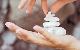 Stein auf Stein, wie in der medizinischen Astrologie