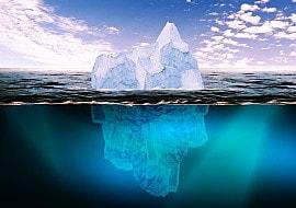 Eisberg-Metapher zeigt Mangel an Selbsterkenntnis
