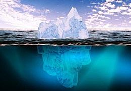 Eisberg-Analogie: Geburtshoroskope enthüllen Unbewusstes