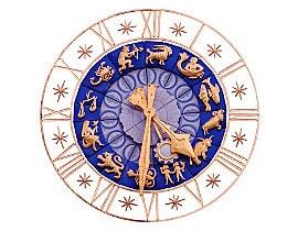 Uhr misst wie das Jahreshoroskop die Zeitqualität