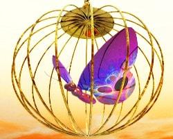 Goldener Käfig, symbolisiert gutes Karma im Horoskop