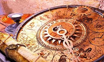 Antike astrologische Uhr