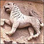 Sternzeichen Löwe, französische Kirchenfigur