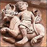 Sternzeichen Stier, Steinfigur an Kirche