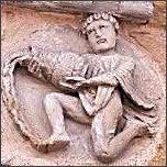 Sternzeichen Wassermann, französische Kirchenfigur