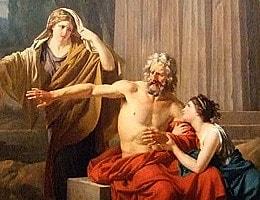 Ödipus heiratet Mutter, die Vorhersagen zur Zukunft treffen ein