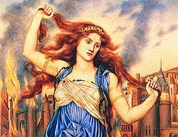 Kassandra und ihre Vorhersage: Troja brennt