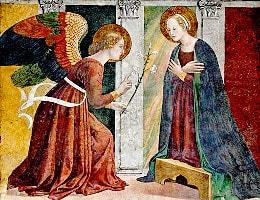 Engel kann Maria die Zukunft vorhersagen